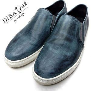Diba True Pick A Daisy Leather Blue Slide 9us